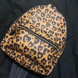 COACH Leopard Print Mini Backpack